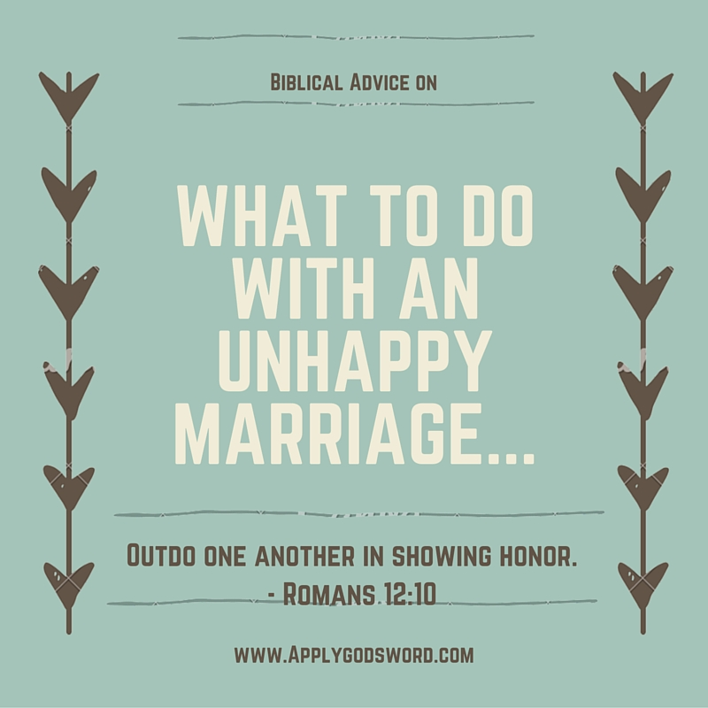 Christian Marriage Quotes Inspiration Biblical Advice For An Unhappy Christian Marriage  Applygodsword