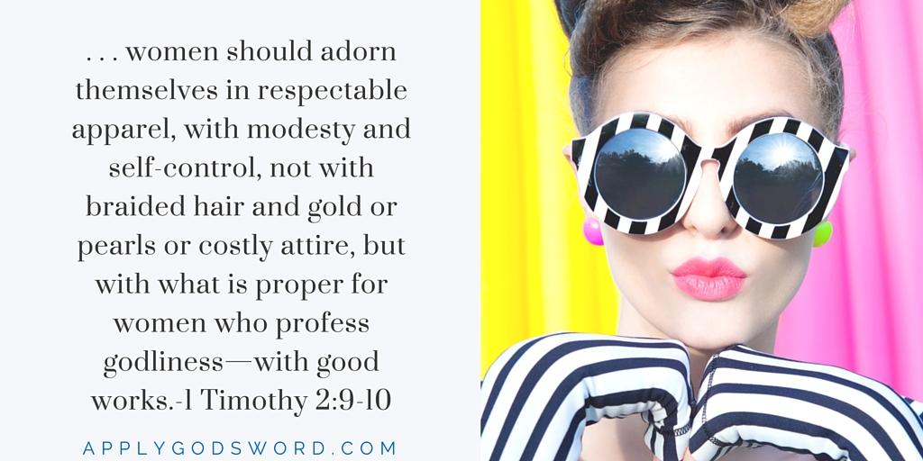 1 Timothy 2:9-10