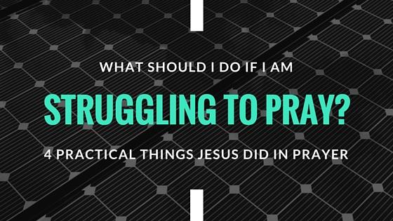 Struggling to pray_