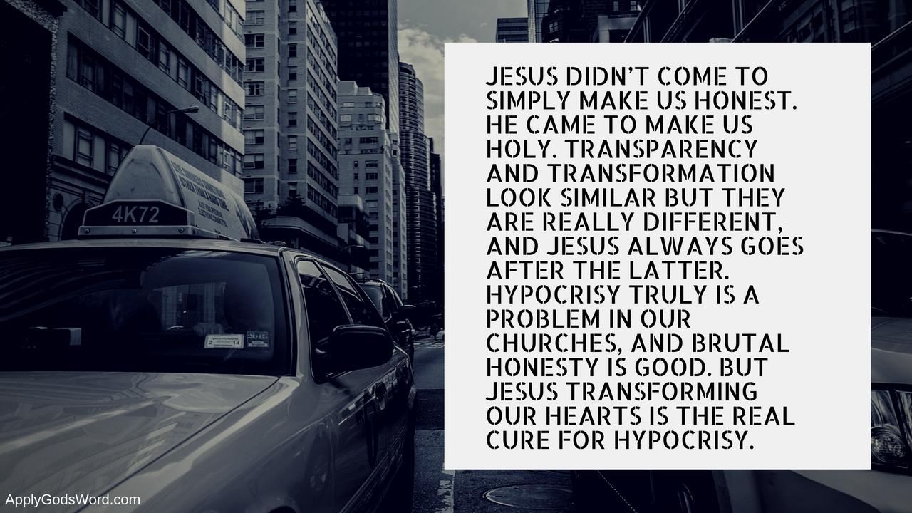cure for hypocrisy church