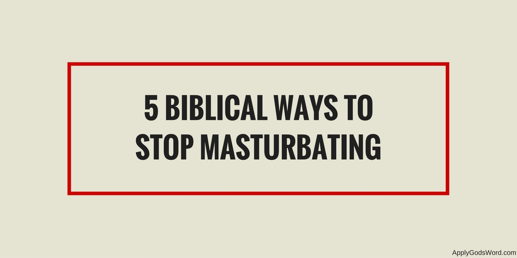 Bible and masturbation