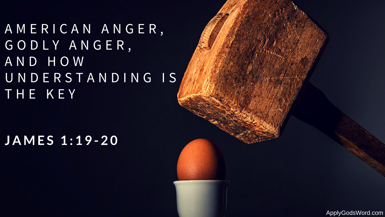 What does the Bible say about anger