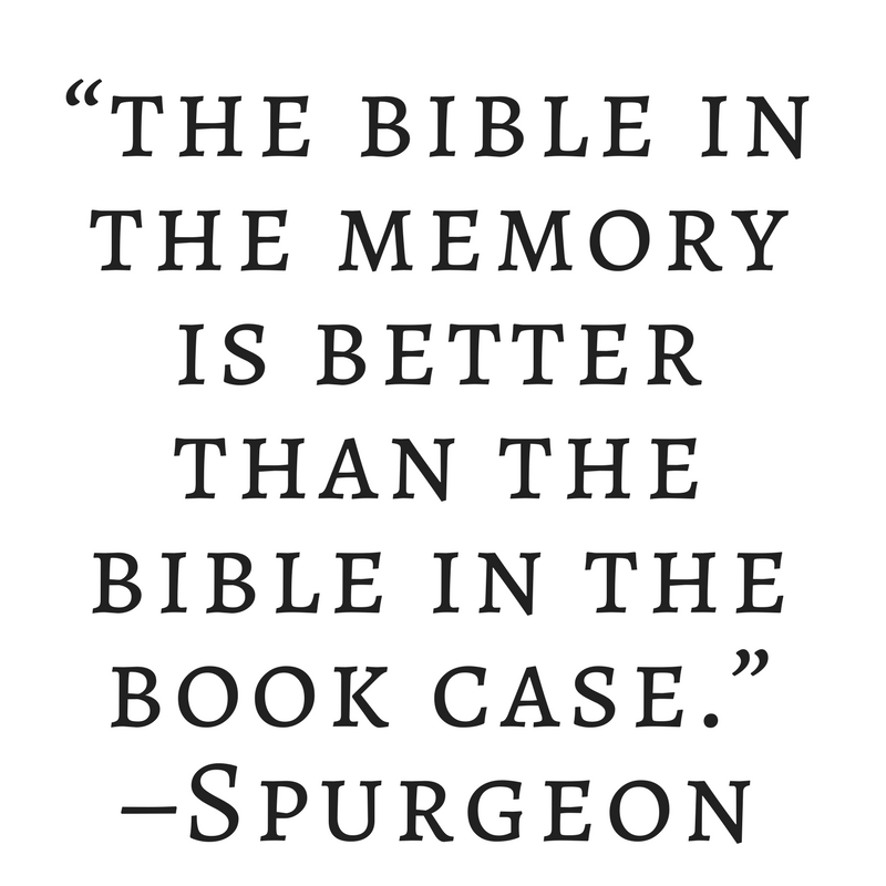 benefits of bible memory