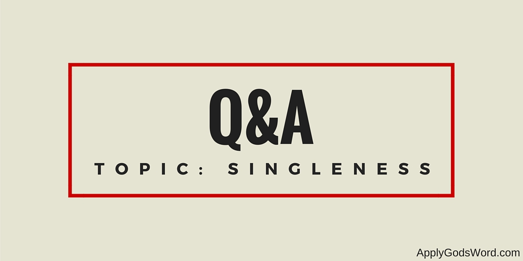 q&A topic singleness