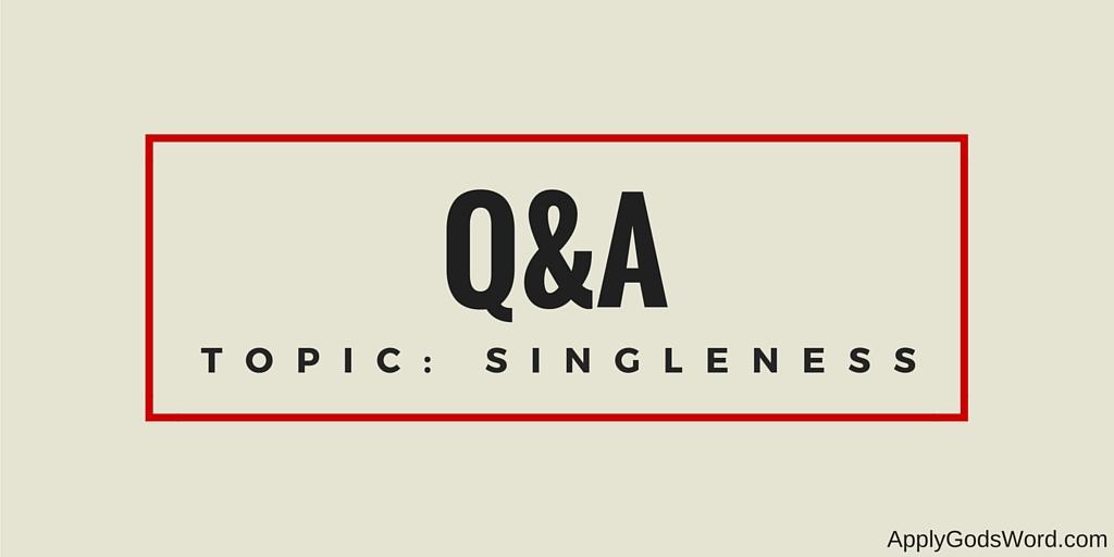 q&A topic singleness
