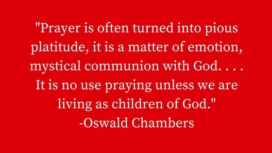 prayer platitude