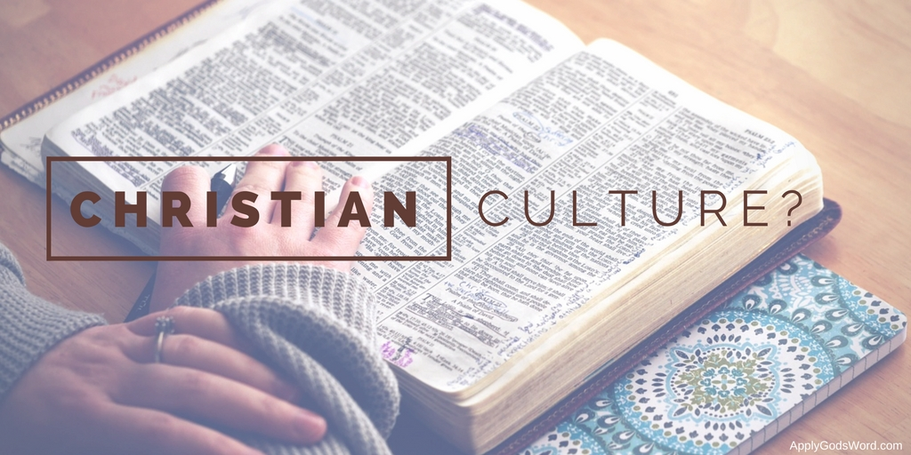 christian culture Bible