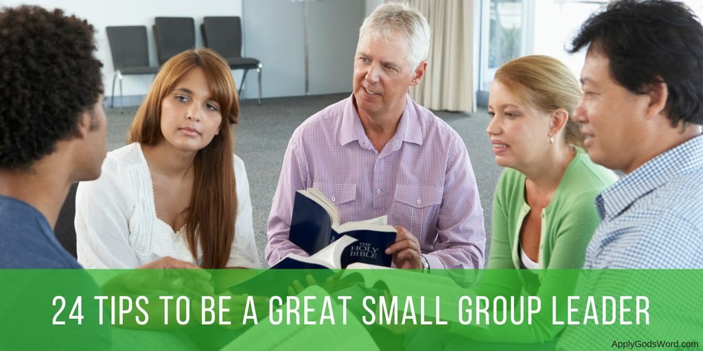 how to be a great small group leader