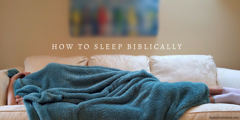 What does the bible say about sleeping_