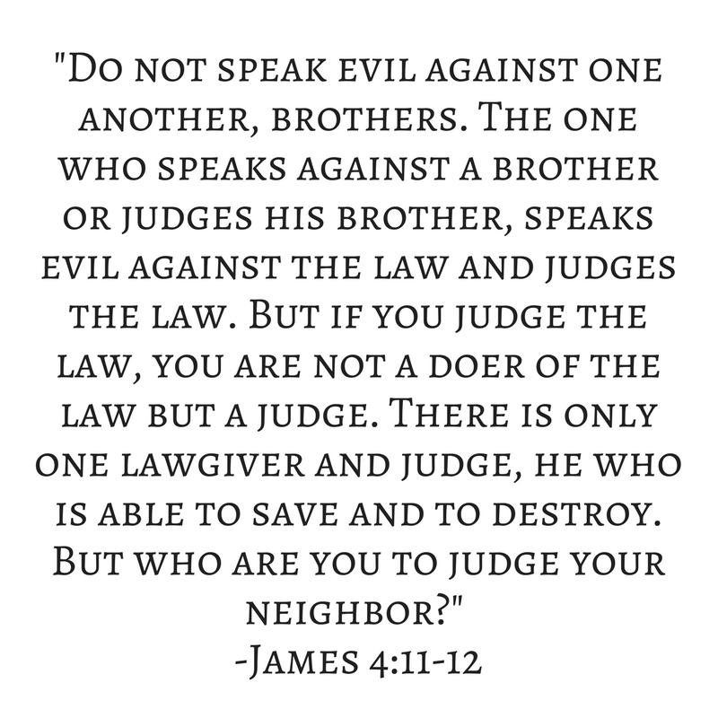 Bible feeling judged