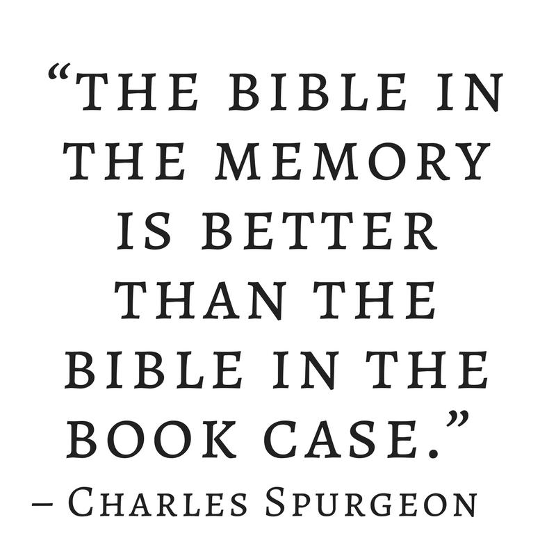 benefits of bible memorization