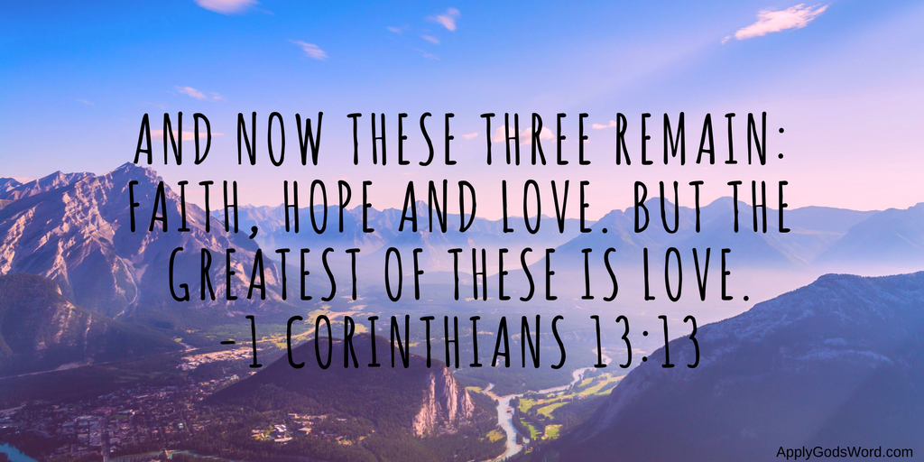 faith hope love bible