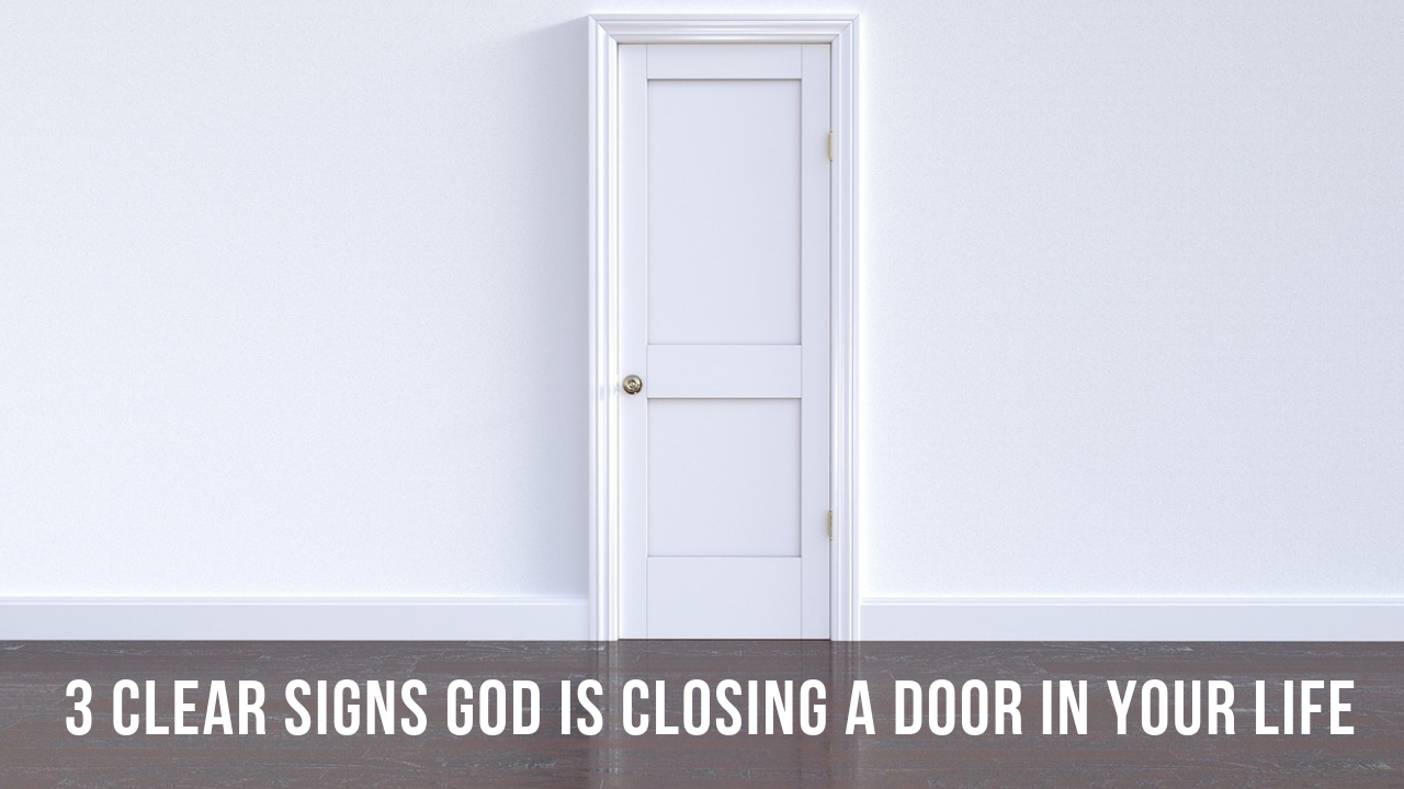 signs God is closing a door
